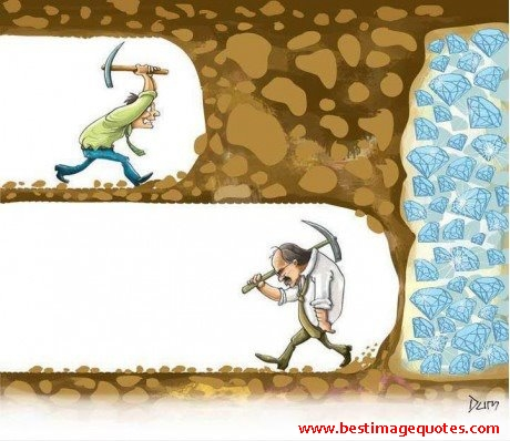 Never give up pic
