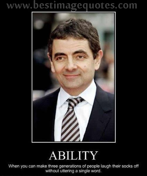 The power of silence-mr.bean-Rowan Atkinson