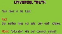Education kills our common sense [Funny Picture]