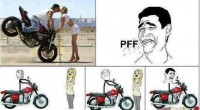 Funny Troll, Kissing stunt on bike