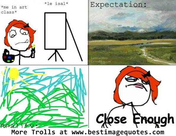 Expectations in an art class-Funny Trolls