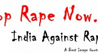 Stop Rape Now- India against rape cover picture