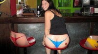 Sexy Back of a girl at bar-Funny Pictures